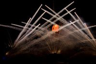 firework at beach of singapore
