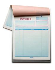 Blank Invoice Pad