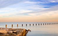 Lake Michigan at early evening
