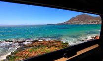 window view of beach