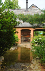Pond in front of the House