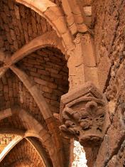 Gothic stone arches at Caesarea del Mar