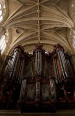 Ornate church organ