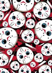 Serial Killer Mask & Knife Pattern