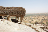 Toguna in a Dogon village, Mali (Africa).
