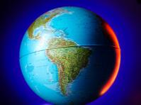 Brazil on a Globe