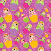 Colorful Matrioska Dolls pattern