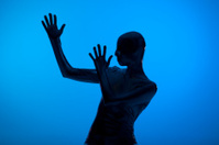 Futuristic female silhouette