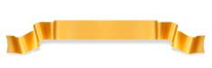 Orange ribbon banner