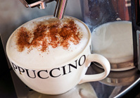 Fresh Cappuccino coffee