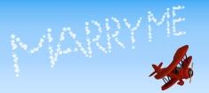 biplane sky writing marry me