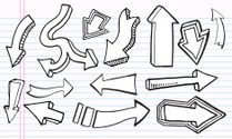 Cute Doodle Arrow Set