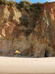 section of the idyllic Praia de Rocha beach