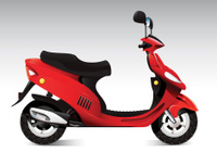 Cool red scooter