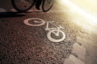 Bike lane in the evening