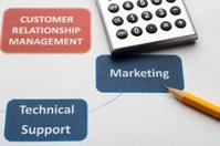Business graphs & charts Customer Relationship Management
