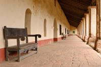 Mission La Purisima colonnade