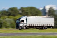 Truck in motion blur