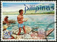 traditonal Philippine coral diver