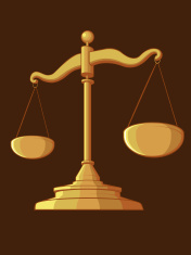 Illustration #0014 - Justice Scale