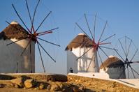 mykonos greece, windmills