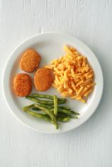 Chicken Nuggets on White