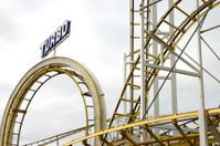 old roller coaster tracks
