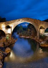 Roman bridge in Cangas de Onis (Asturias,Spain)
