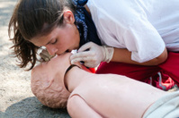 Paramedic CPR dummy training