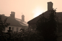 mist over rooftops