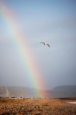 Rainbow over Lyme Regis