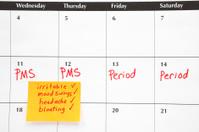 Calendar: Menstruation and PMS