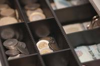 Money in the cash register