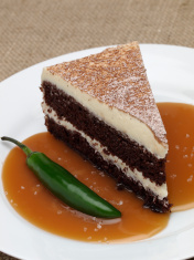Chocolate Chili, Salted Caramel Layer Cake
