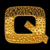 Gold alphabet symbol - letter Q