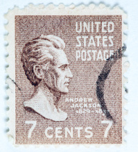 Andrew Jackson Postage Stamp