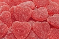 Heart shaped jelly sweets