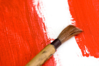Brush on Red Paint