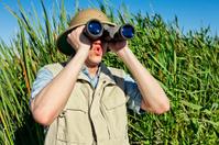 Bird Watcher on Safari