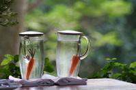 Carrots in two bottles