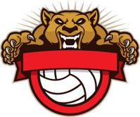 Cougar Mascot Volleyball