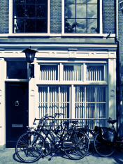 Bicycles in Amsterdam Streets