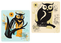 Owl - Retro Style