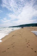Footprint on sands