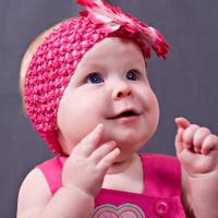 Closeup portrait of little baby girl