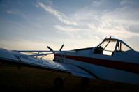 Grounded aeroplane