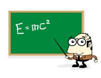 Teacher Teaching in front of Chalkboard