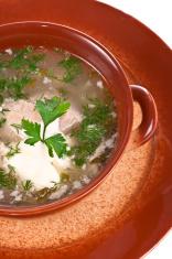National Russian dish rassolnik.