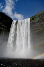 Waterfall Skogarfoss in Iceland