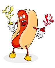 Hot Dog Cartoon